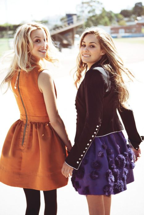 nothin like good girly friends :): Full Skirts, California Girls, Teen Vogue, Orange Dresses, Whitneyport, Laurenconrad, The Dresses, Whitney Port, Lauren Conrad
