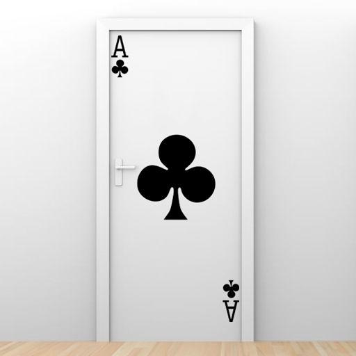 Vinilo decorativo As de Poker. Decora con él las puertas o cualquier otra superficie lisa.