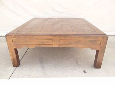 Henredon parquet top parson square coffee tableTops Tables and