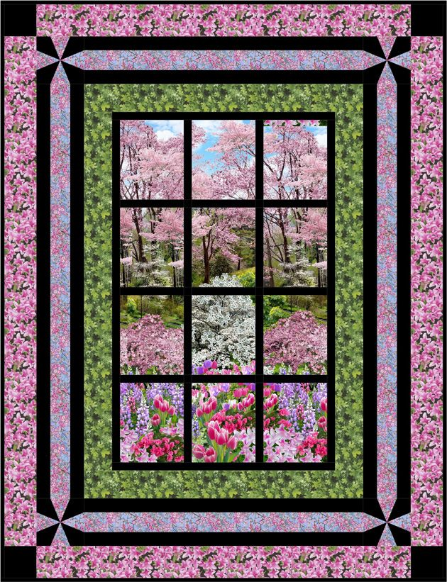 Botanic Garden Projects & Inspiration - Blog | TIMELESS TREASURES / Bella Vista Pattern by Jude Spero, Little Louise Designs