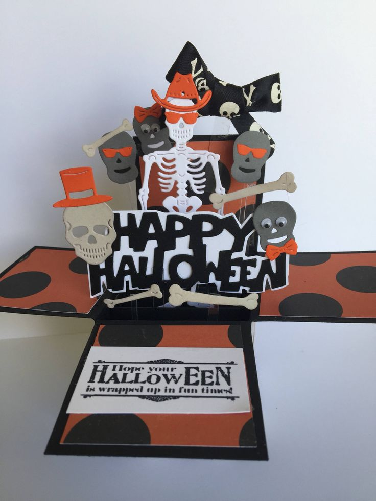 A personal favorite from my Etsy shop https://www.etsy.com/listing/546353824/halloween-pop-up-box-card-3d-skeleton