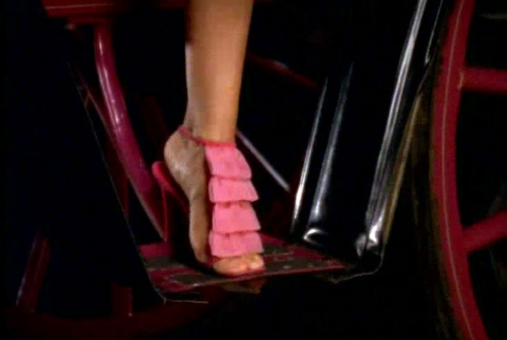 Pink Christian Louboutin w/ chiffon cascade. Season 4: I Heart New ...