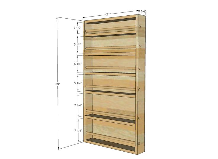 Ana White | Build a Door Spice Rack | Free and Easy DIY Project and Furniture Plans