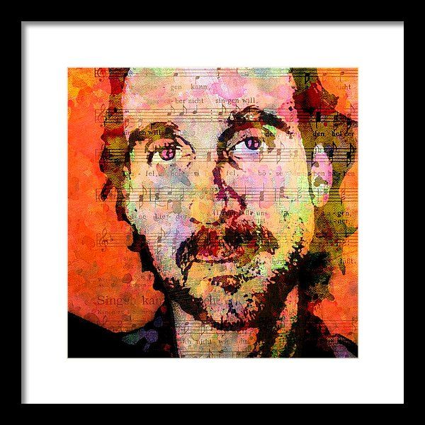 Genesis Framed Print featuring the painting Mike Rutherford by Otis Porritt