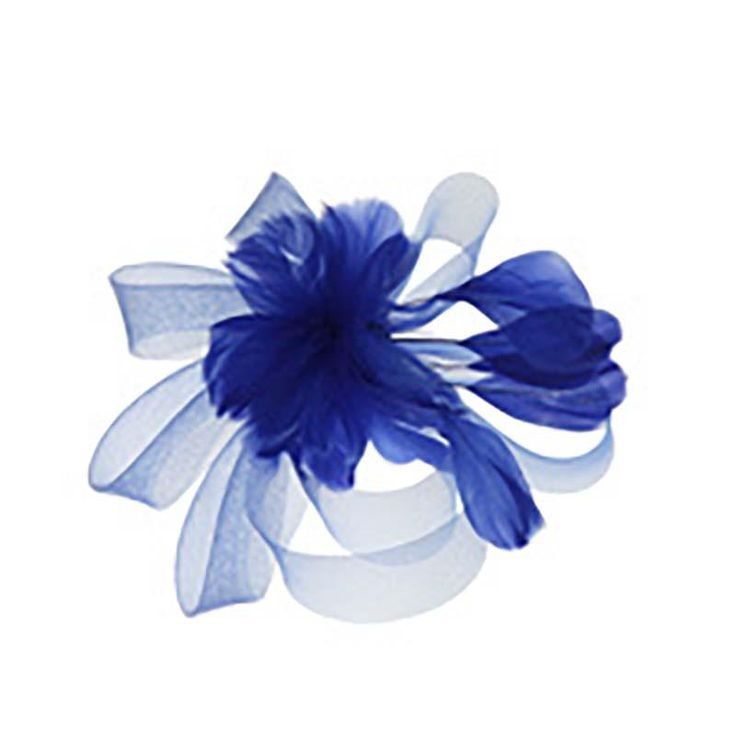 Feather Flower - Mesh Bow Fascinator
