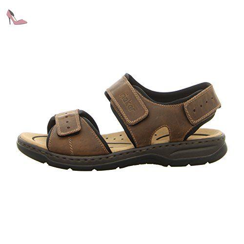 Rieker  26274-25, Sandales pour homme marron marron - marron - TABAK/SCHW, - Chaussures rieker (*Partner-Link)