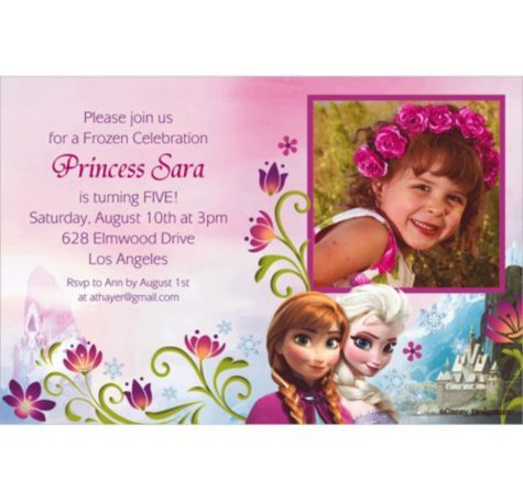 As 183 melhores imagens em frozen party theme no pinterest frozen custom photo invitation party city stopboris Gallery