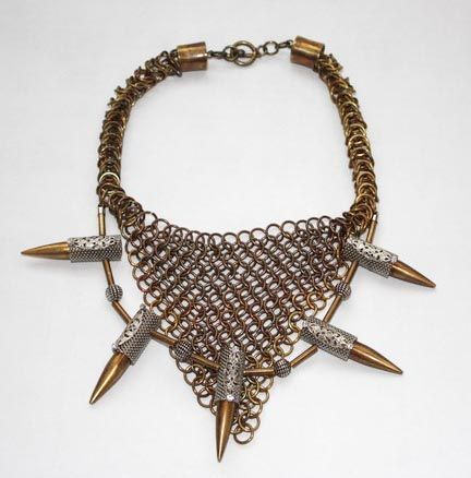 chainmail and bullet collar