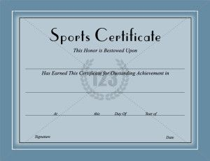 1000 images about certificate template on pinterest for Athletic certificate template