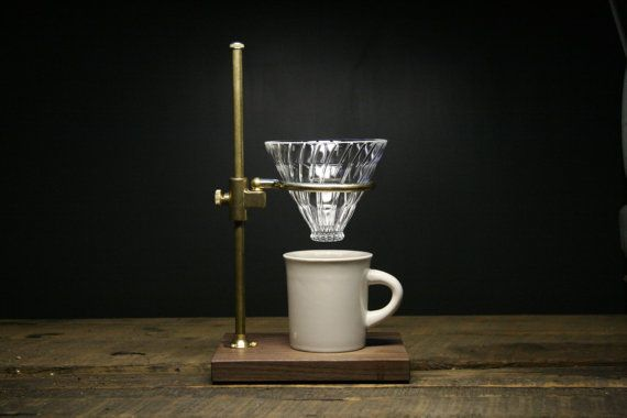 The Clerk V60 Coffee Pour Over Stand by TheCoffeeRegistry on Etsy