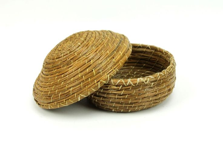 Handmade Pine Needle Baskets : Best vintage finds images on