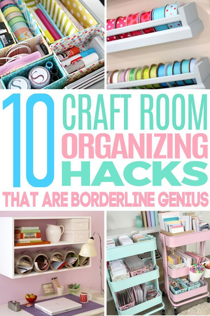 10 Beyond Clever Craft Room Organization Ideas Craft Room Organization Craft Room Diy Hanging Shelves