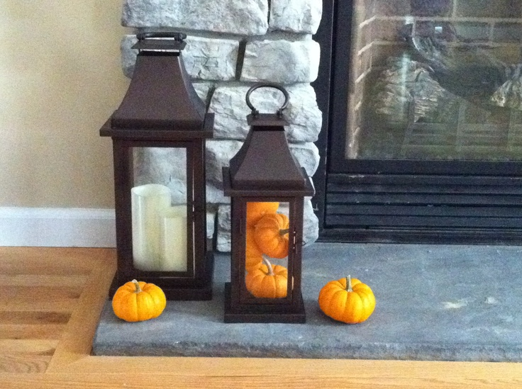 Fall decor lanterns from kohls holiday decorating