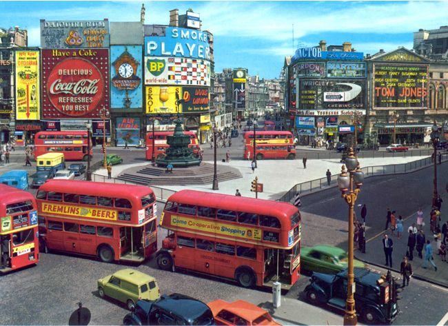 Remember when this? Piccadilly Circus has changed just a bit!