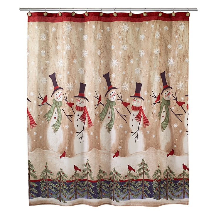 19 best Christmas Shower Curtains images on Pinterest | Christmas ...