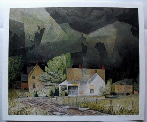 $45.99  Group OF Seven ART Print SUN After Thunder BY A J Casson | eBay