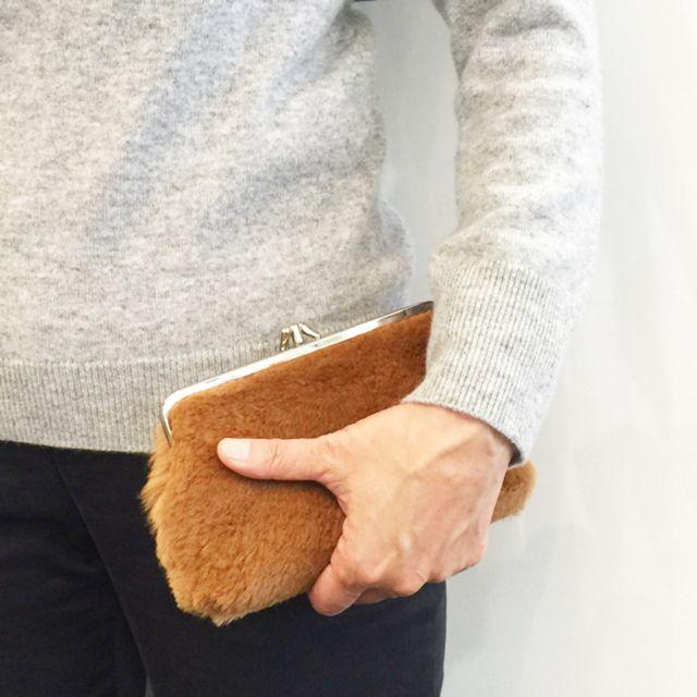 Kangaroo fur clasp wallet