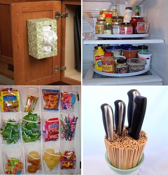 20 Maneras de organizar y ahorrar espacio en la cocina. | Mil Ideas de Decoración