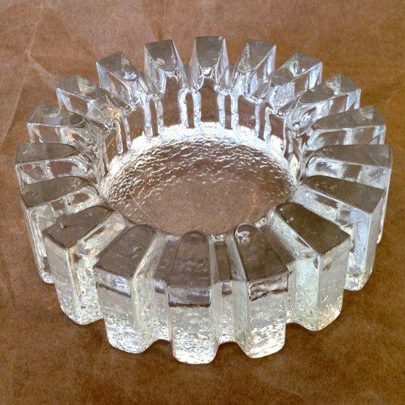Fab Mid Century Pukeberg Ice Block Clear Crystal by JigsandLarry