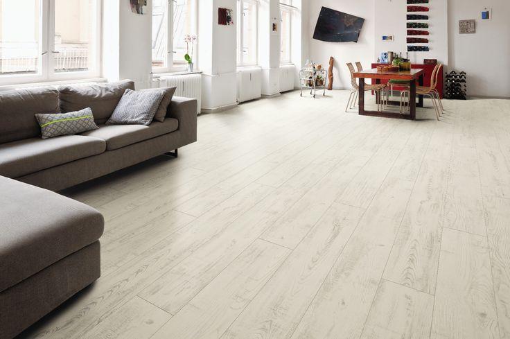 Laminate floor chesnut White matt #parquet #floor