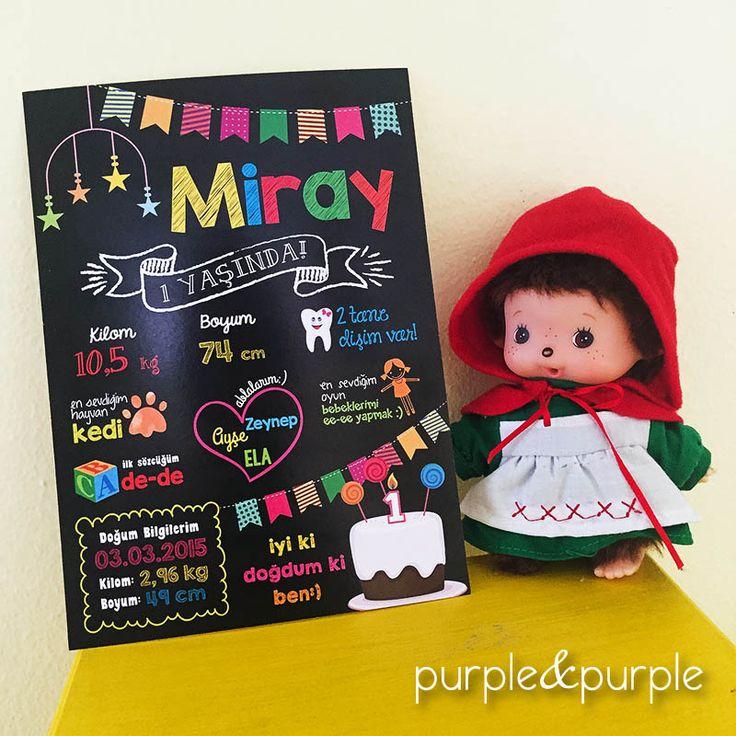 chalkboard | kara tahta pano | 1 yaş anı panosu | hatıra panosu | first birthday | ilk doğum günü
