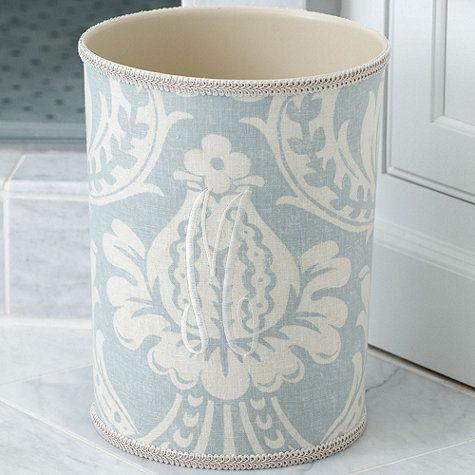 Monogrammed Fabric Wastebasket Ballard Designs