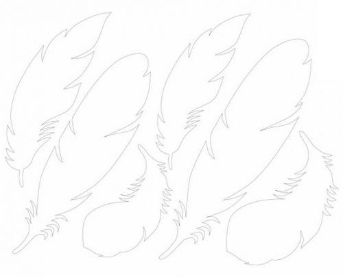 шаблоны для перьев из бумаги, как сделать перо перья из бумаги, мастер-класс, идеи, мк, МК