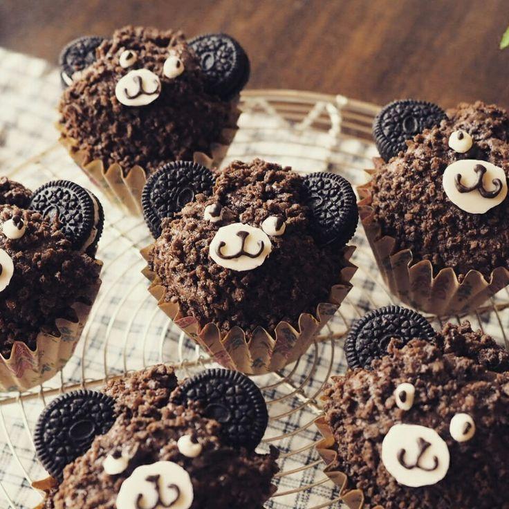 (お知らせあり)ザックザク濃厚♪ショコラマロンのくまマフィン♪   しゃなママオフィシャルブログ「しゃなママとだんご3兄弟の甘いもの日記」Powered by Ameba