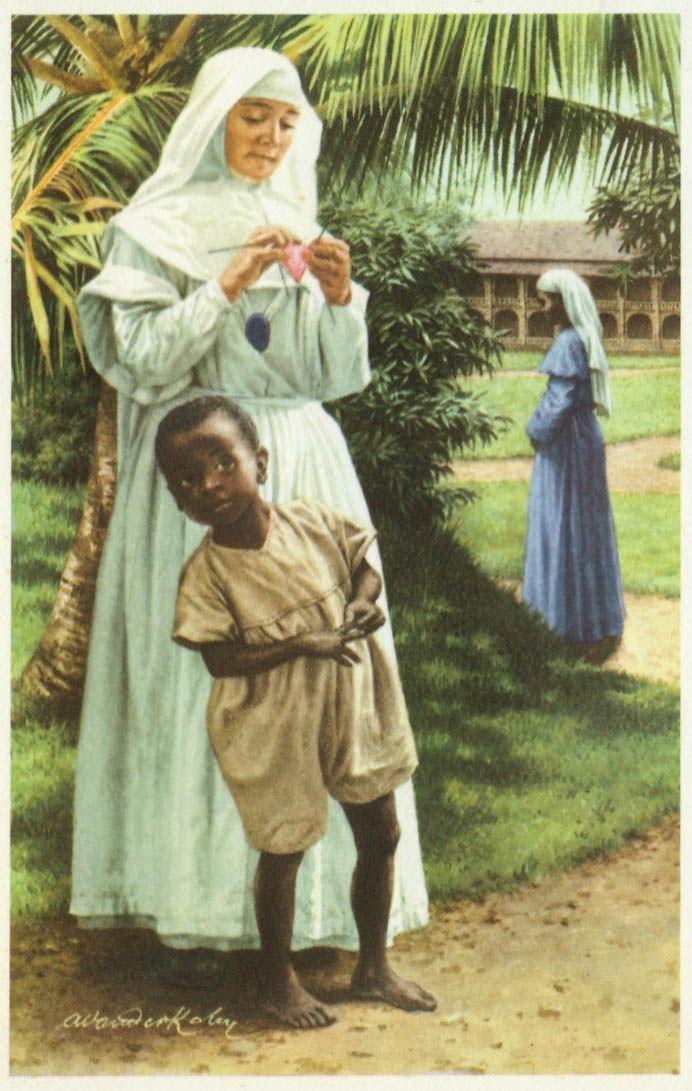 De missionnarissen -  De prestatie van de Belgen was een prachtig iets. Ze hebben er de schoonste kolonie te wereld van gemaakt. Echt onontgonnen en wild land valoriseren en moderniseren, rijker en mooier maken, is iets heerlijks. Een volk beschaven is beter. Beschaven betekend de lichamen genezen en de zielen verheffen. Dit was het werk van onze geneesheren en vooral van onze missionarissen.