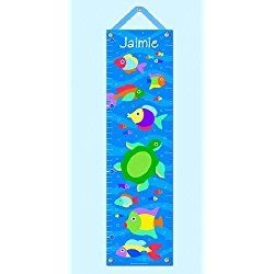Olive Kids Personalized Somethin' Fishy Canvas Growth Chart