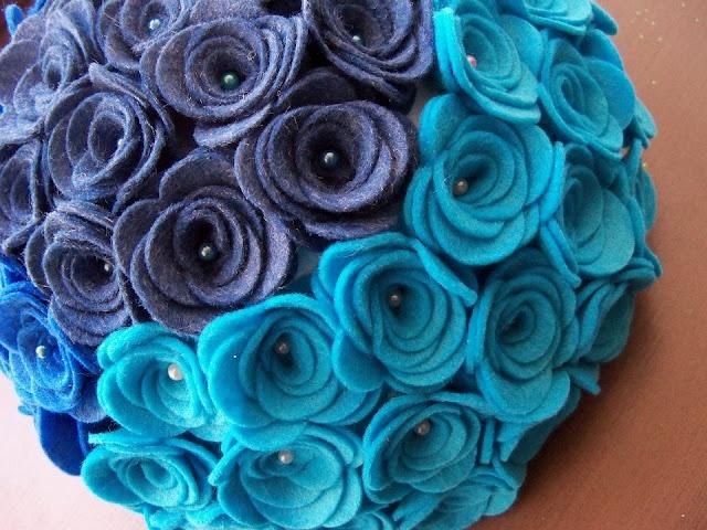 blue flowers  decorazione per il nostro bar
