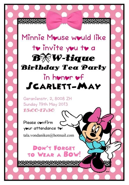 "Photo 1 of 57: Minnie Mouse BowTique / Birthday ""Scarlett's Minnie Mouse BOWtique Birthday Tea Party"" 