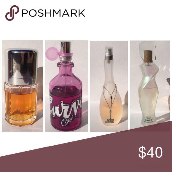 4 Perfumes CALVIN KLEIN - ESCAPE Eau De Parfum Spray 1.7oz. (Box #3)  CURVE CRUSH by Liz Claiborne 1.7 oz Eau de Toilette Spray. (Box #10)  GLOW by Jennifer Lopez 3.4 oz.                                                            LOVE AND LIGHT by J.Lo 2.5 oz. (Box #4 & #5)   Four perfumes included. Calvin Klein Other