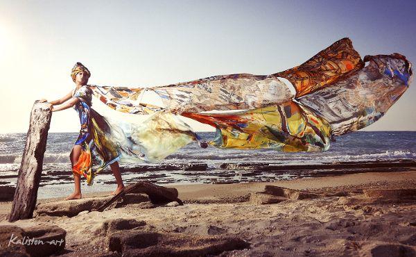 Campaign Photoshoot - Kaliston art | Luxury silk scarves & pareo