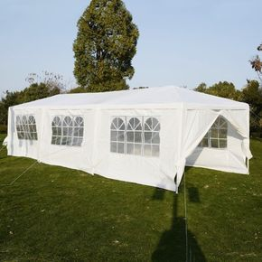 Giantex 10'x30' Heavy duty Gazebo Canopy Outdoor Party Wedding Tent, Silver