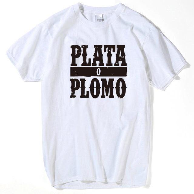 Custom Short Sleeve Boyfriend's Narcos Godfather Pablo Escobar T Shirt Screen Printed Mens S-XXXL funny men t shirt 2017