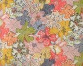 Coton Liberty Mauvey rose thermocollant : Tissus Habillement, Déco par je-m-applique