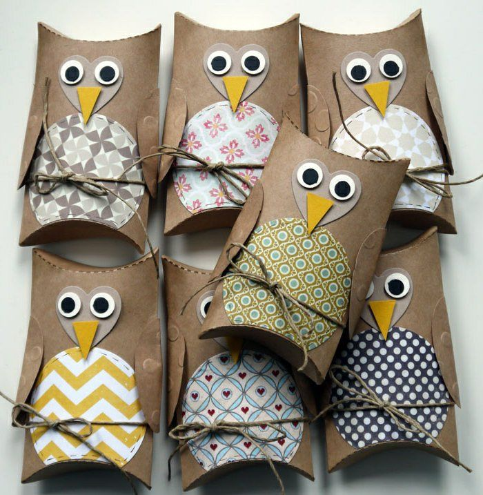TP  & Paper Towel Tube Owls - Make different owls for an Advent Calendar - #AdventCalendar #OwlAdventCalendar