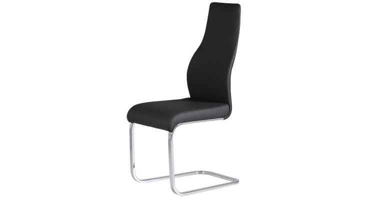 The Anna Dining Chair is a high backed dining chair with modern chrome swing legs. The fully upholstered seat and back are available in soft real leather in a wide range of colours. The high back is shaped to give fantastic lumbar support and the seat is well-padded too. £195.00