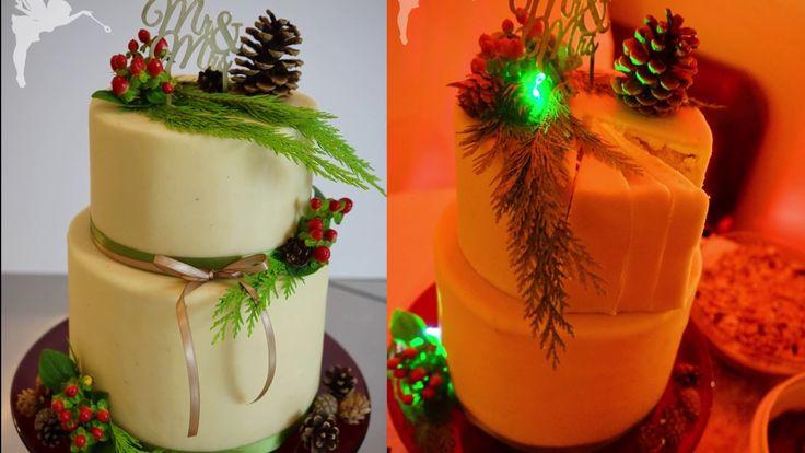Hochzeitstorte mit Marzipan & echten Blumen - Making of Hochzeitstorte -...