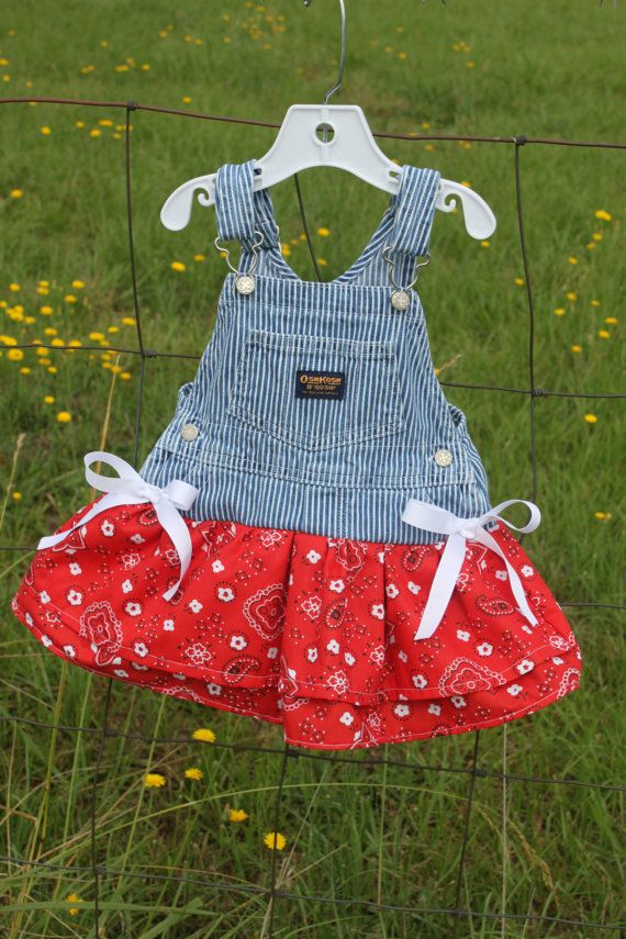 Overall Dress,toddler Bandanna skirt,cowgirl outfit,cowgirl dress,red western dress,overall tutu,kids overalls,overalls,girl train birthday