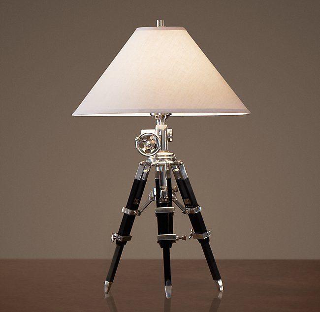 Nautical Chrome Vintage Tripod Table Lamp Black Tripod Lamp Stand Handmade Lamp Tripod Floor Lamps Tripod Lamp