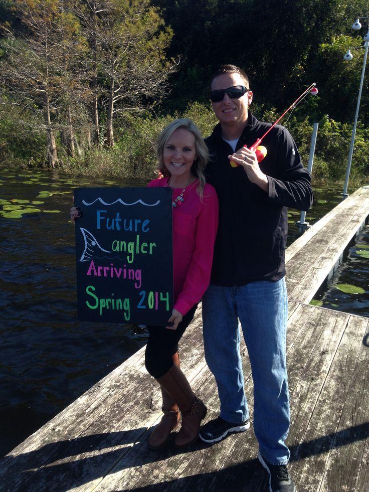 Fishing Themed Pregnancy Announcement Announcement