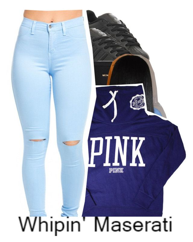 """""""One Day You Gon Learn"""" by clinne345 ❤ liked on Polyvore featuring adidas, Michael Kors and Victoria's Secret"""