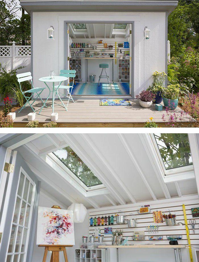 ber ideen zu studio shed auf pinterest halle. Black Bedroom Furniture Sets. Home Design Ideas