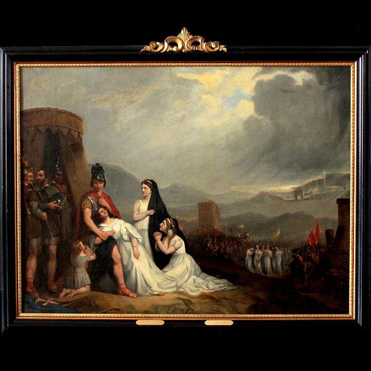 "Benjamin West (1738-1820) ""L'appel à Coriolan"" Angleterre XVIIIe siècle - EN VENTE -ON SALE -"