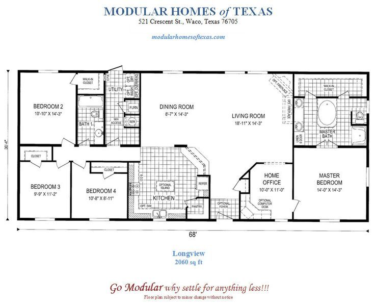 Floor Plans For Modular Ranch Waterfront Homes One Story Modular Home Plans Including T Ranch H Unique House Plans Modular Home Plans House Plans One Story