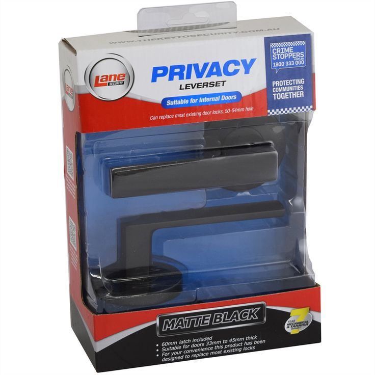 Find Lane Security Matte Black Oxford Privacy Leverset at Bunnings Warehouse. Visit your local store for the widest range of building & hardware products.