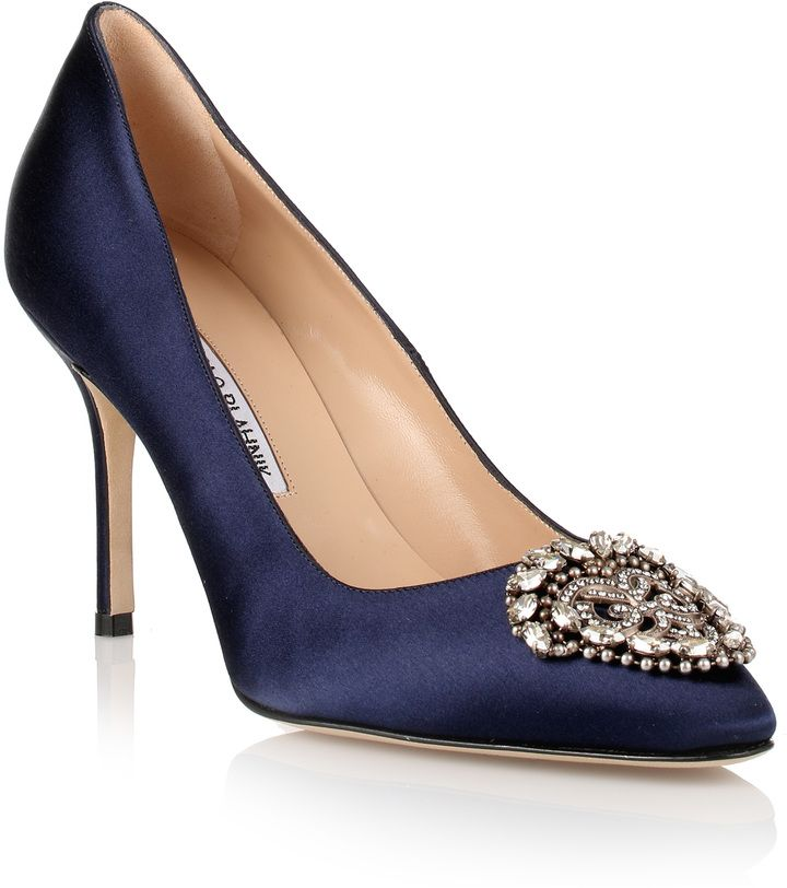 navy blue manolo blahnik pumps shoes
