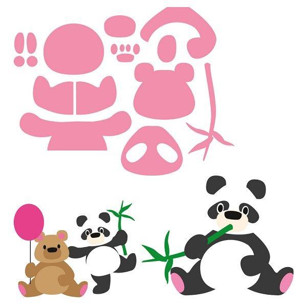 Marianne Design - Die - Collectables - Eline`s Panda & Bear Knutselruimte AGUINIJ / COL 1409